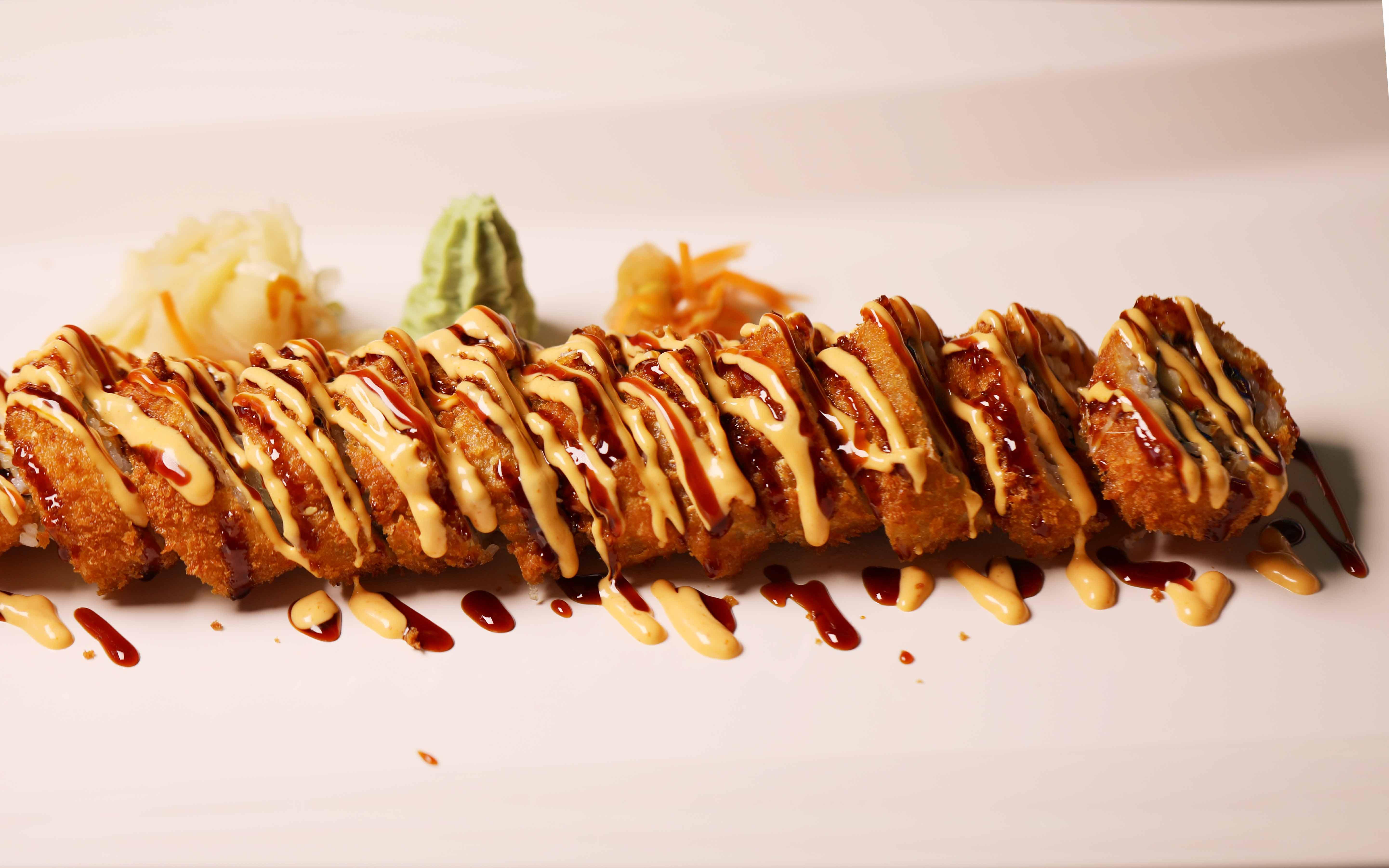 Tuna spicy roll 12 biter 70kr